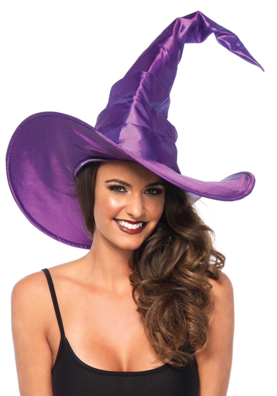Grand chapeau de sorcière froncé
