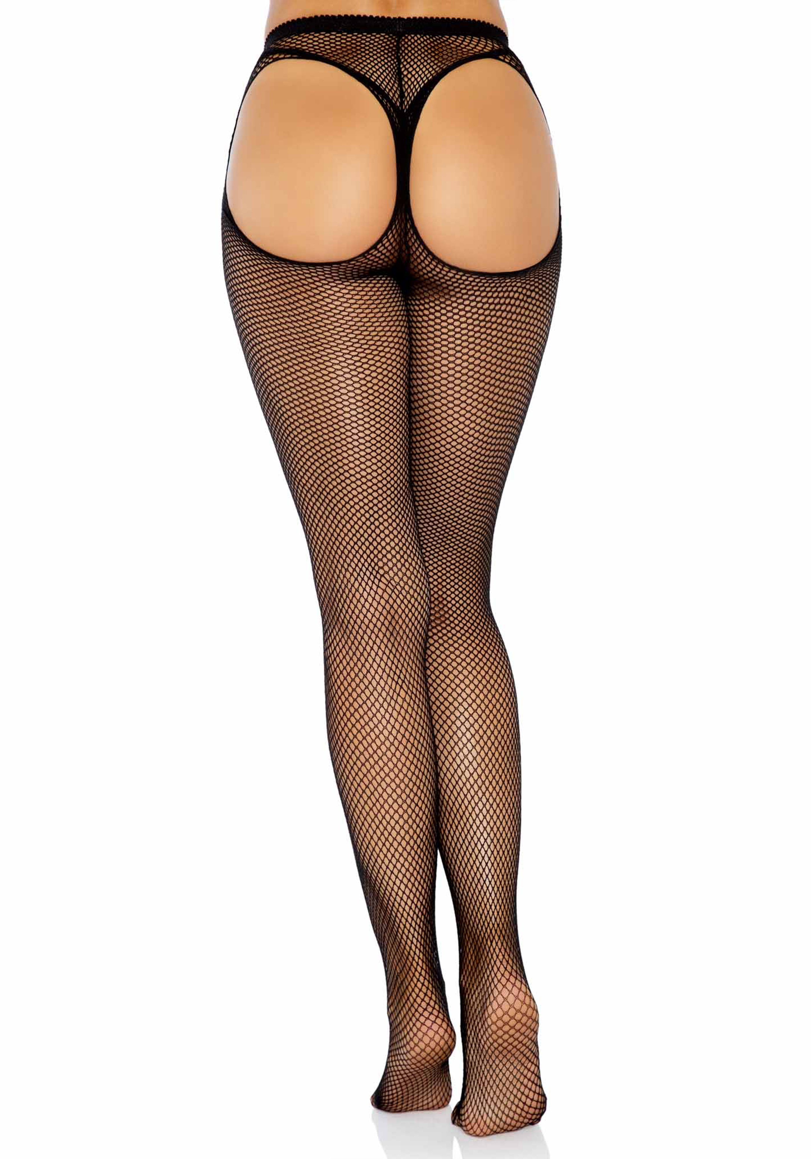 Thong Back Fishnet Pantyhose