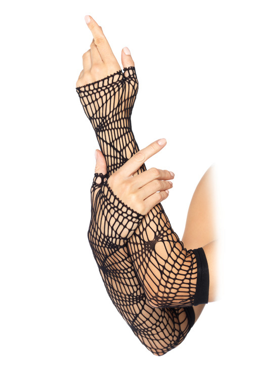 Distressed Net Arm Warmers