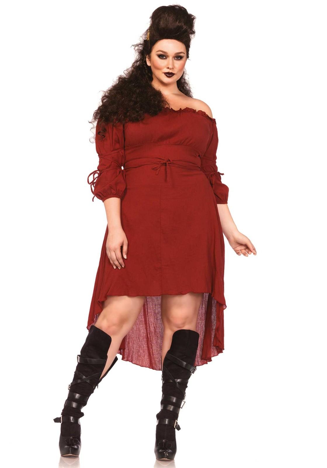 63a842d8e0 Vestido De Campesina De Gasa De Cintura Alta. La medida del vestido de  talla 1XL-2XL ...