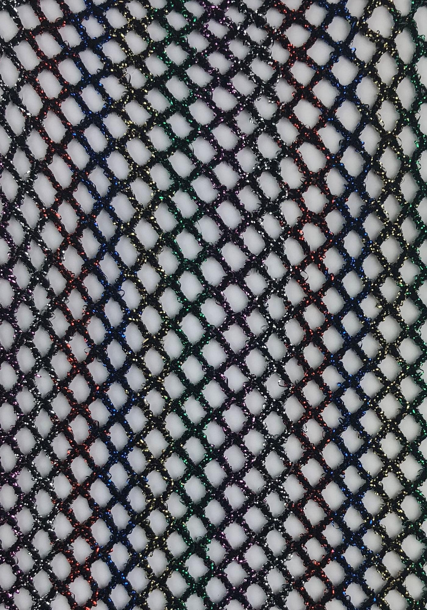 <p>Rainbow lurex fishnet anklets.</p>