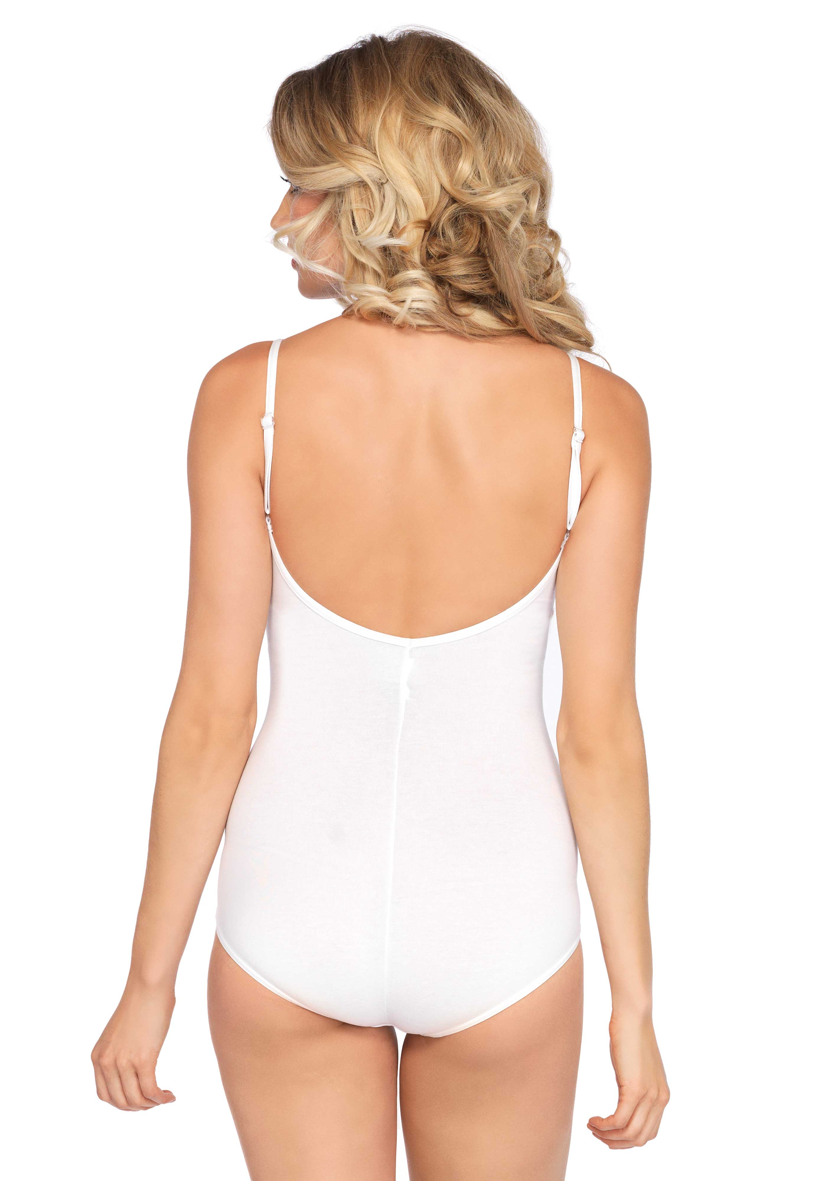 Opaque bodysuit with low back. Perfect for your basic garment.