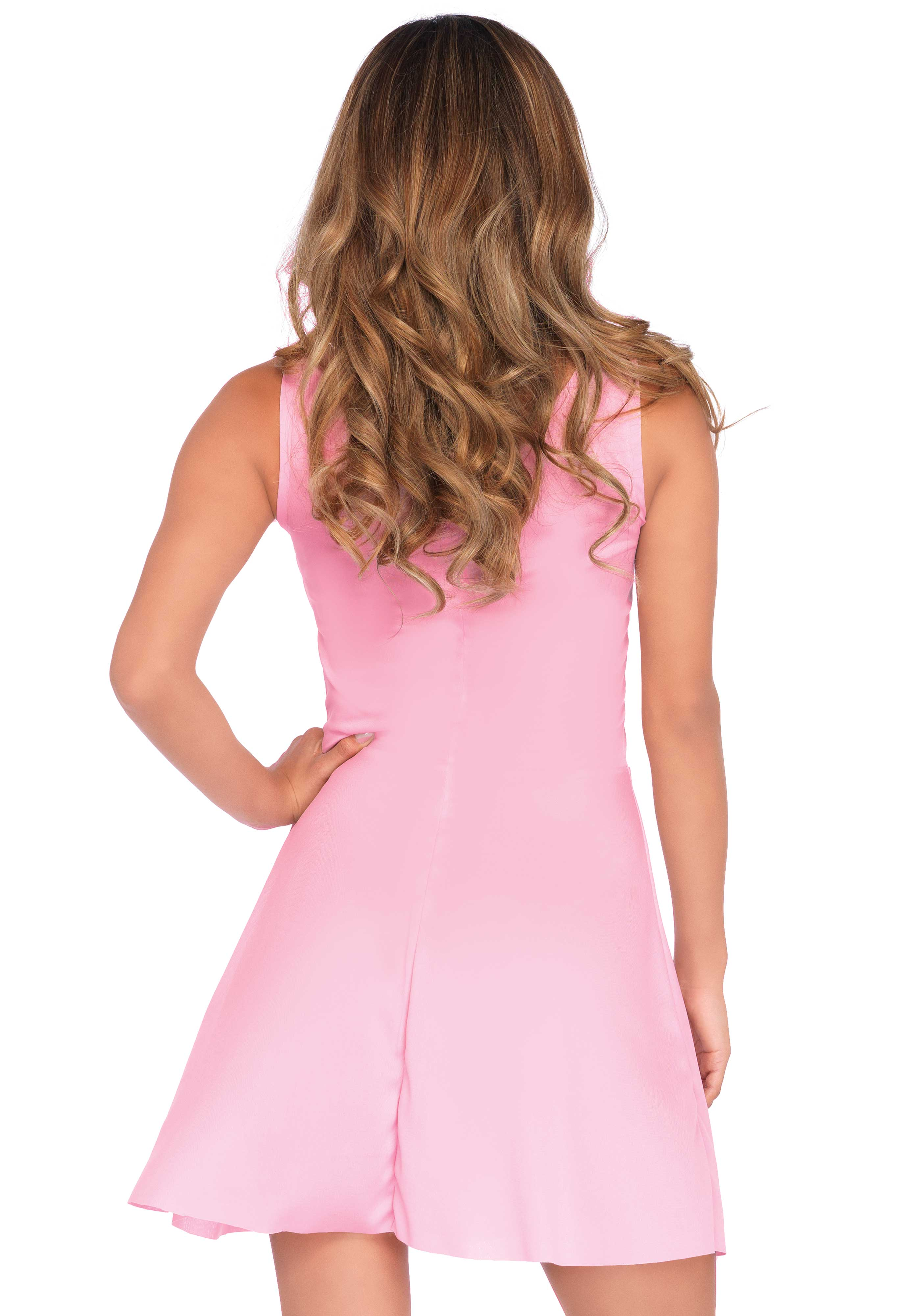 Skater dress, easy to wear stretch fabric. this figure-flattering mini dress is the perfect foundation to any casual or party outfit.