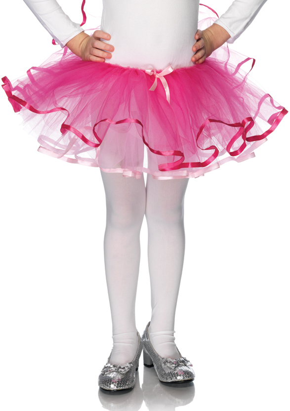 Kids Ribbon Trimmed Tutu