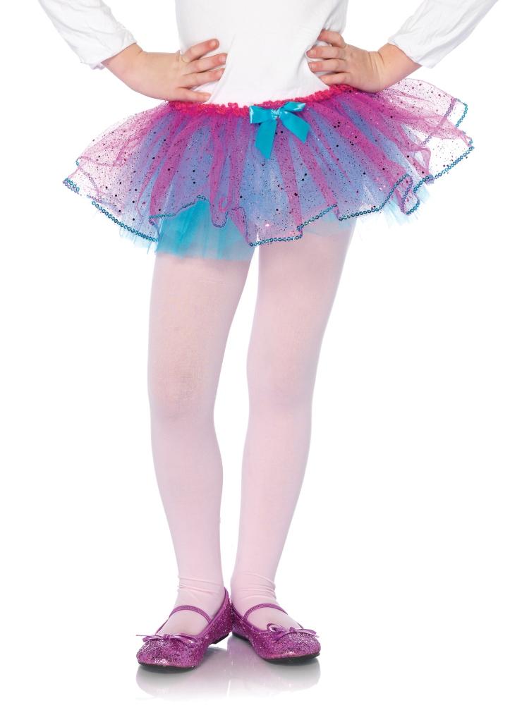 Duel Color Glitter Tulle Petticoat With Sequin Trim