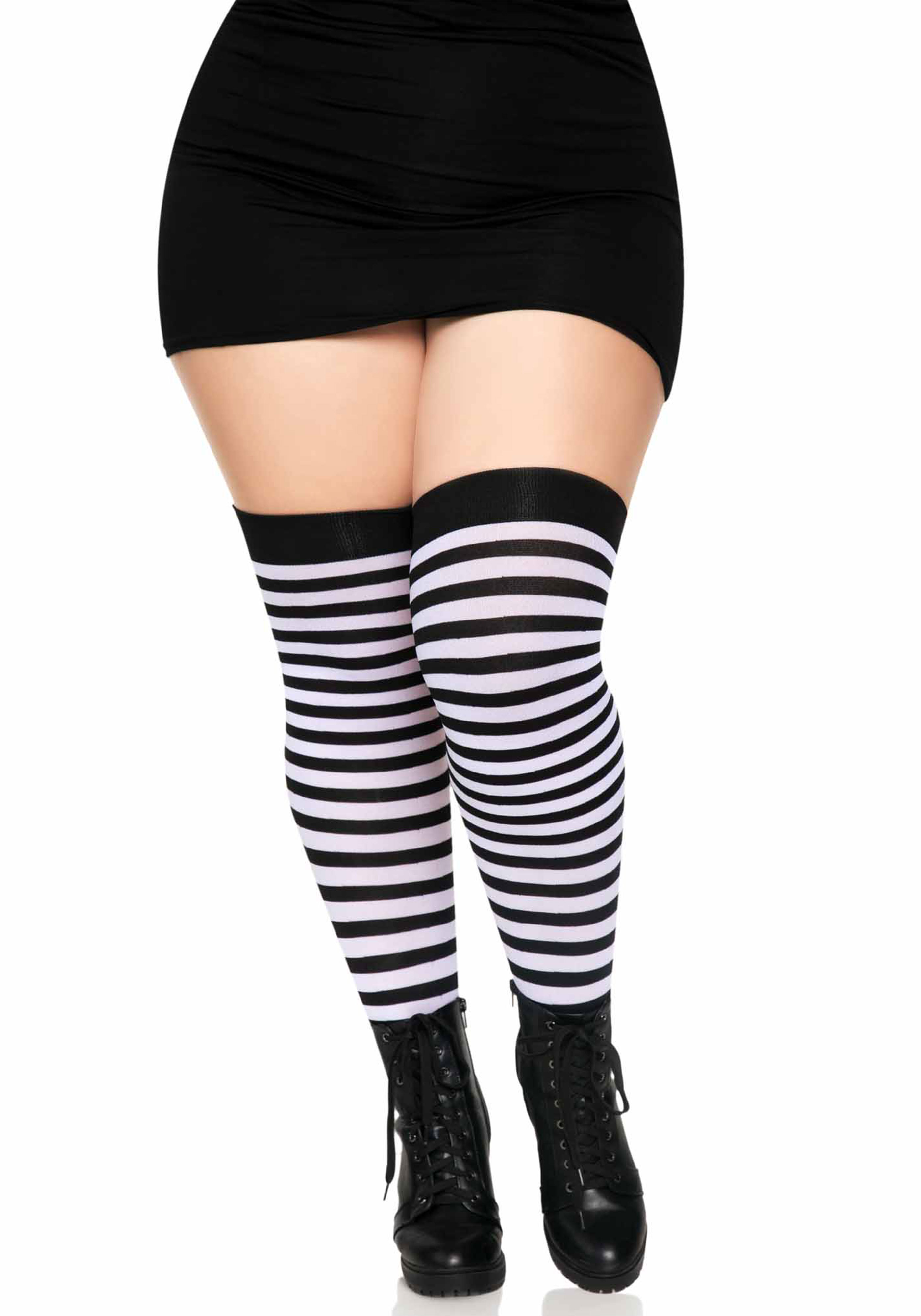 Thigh High Fishnet Stocking Lace Top Leg Avenue 9061