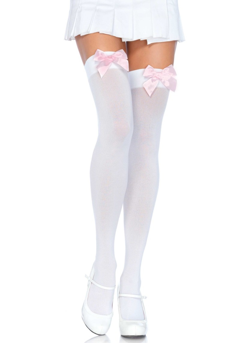 9bca8481d8f69 Nylon Thigh Highs With Bow Product Number:6255
