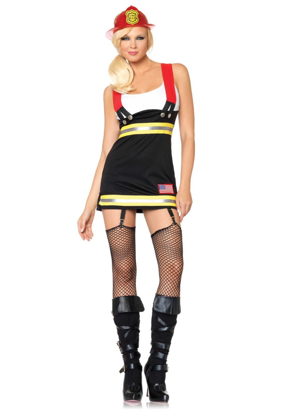 Garter Dress With Attached Cotton Tank And Suspenders