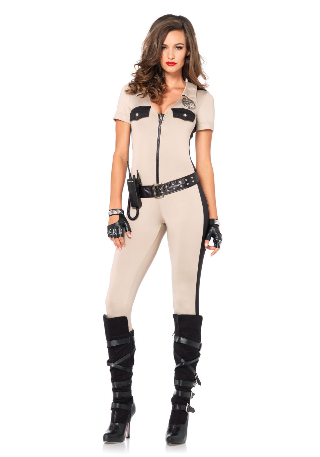 d74bd3807b04 4Pc. Officer Payne Costume Set With Lame Jumpsuit
