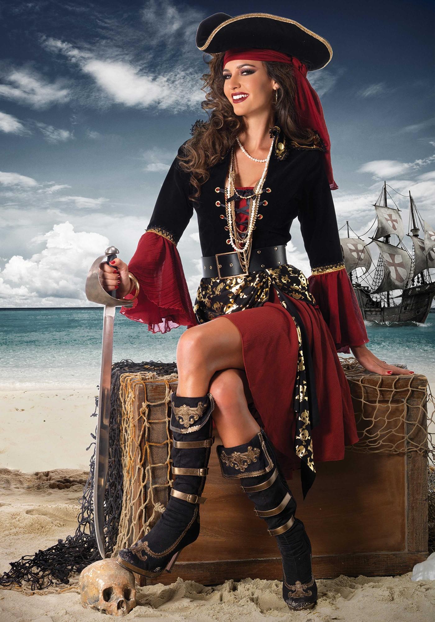 это фотосессия втроем в стиле пираты изображением черепа может