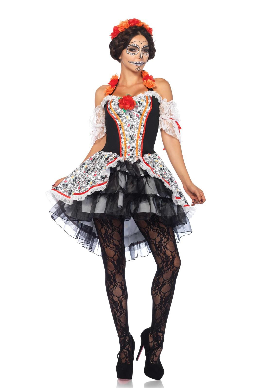 Disfraz De 2 Pzs Señorita Calavera De Azucar Incluye Vestido