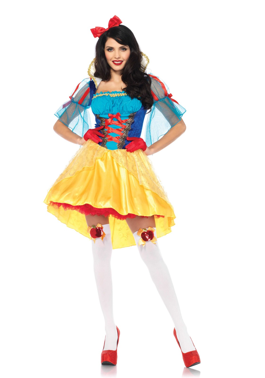2pc. storybook snow white includes velvet and satin high/low peasant