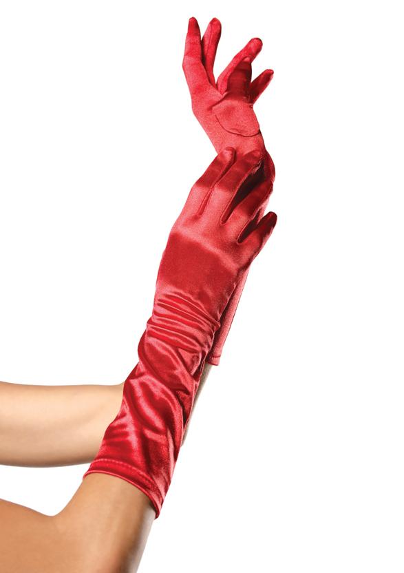 Elbow Length Satin Glove