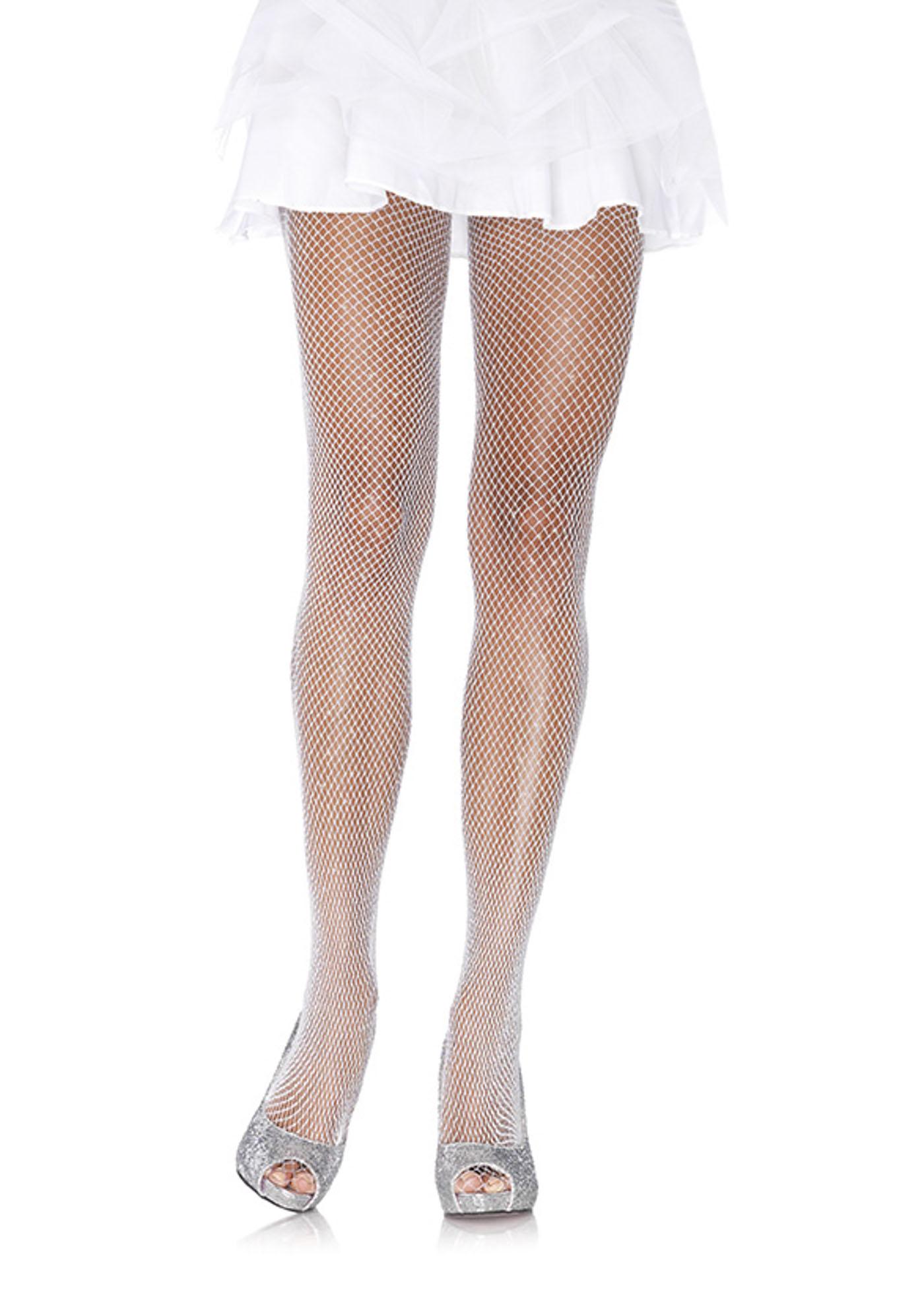 Glitter Fishnet Pantyhose