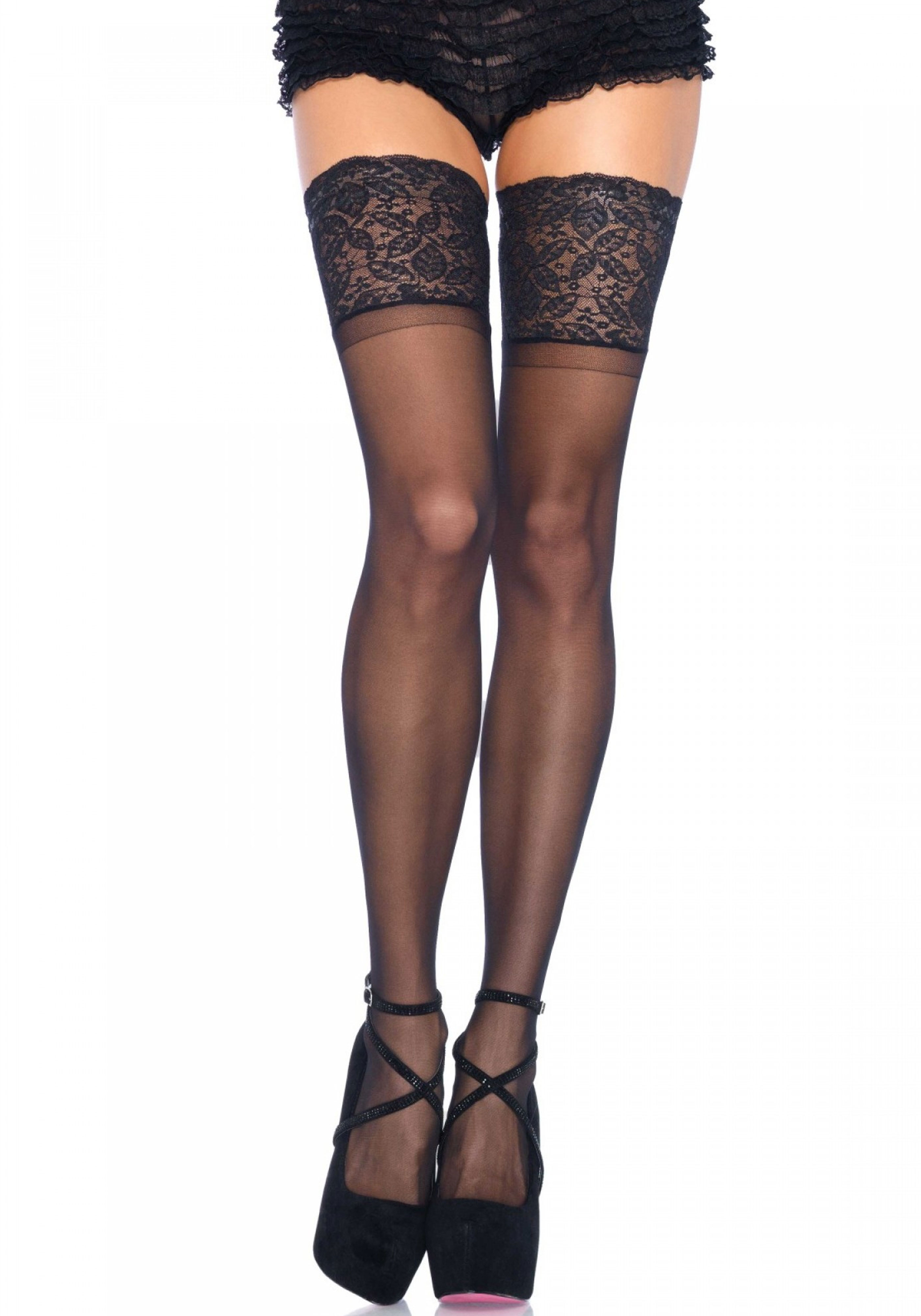 Plus Size Stay Up Sheer