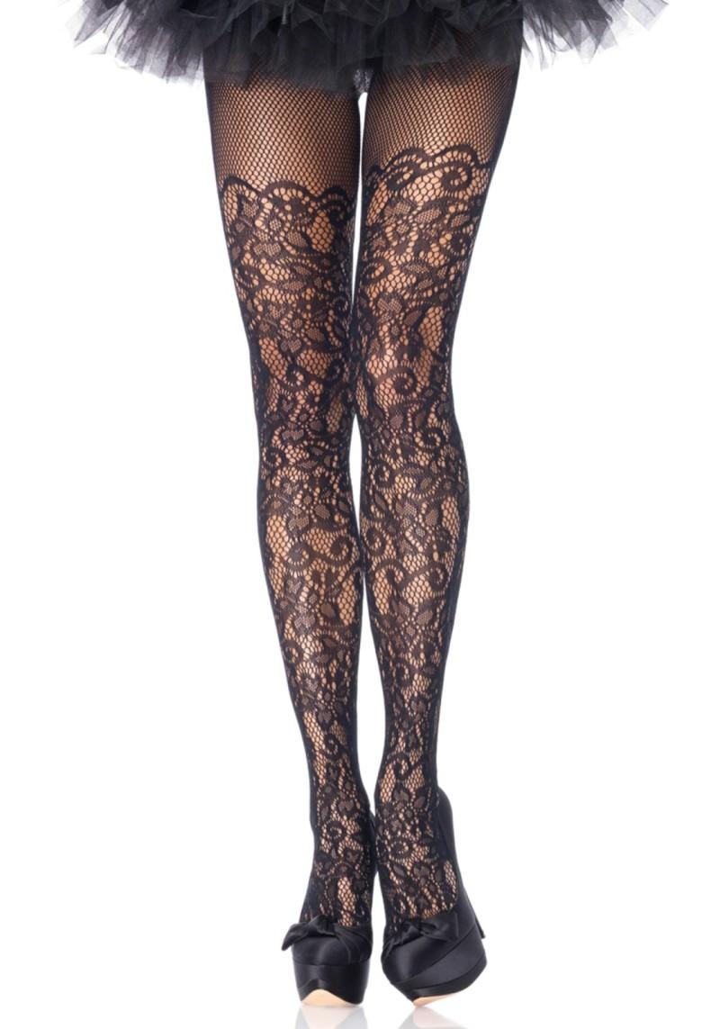 03f0256d319dd2 Plus Size Floral Net Pantyhose Product Number:9954Q