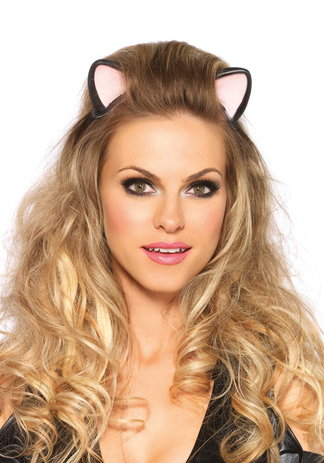 Create a purrrfect party look with these latex cat ears. The ears are attached on a headband.