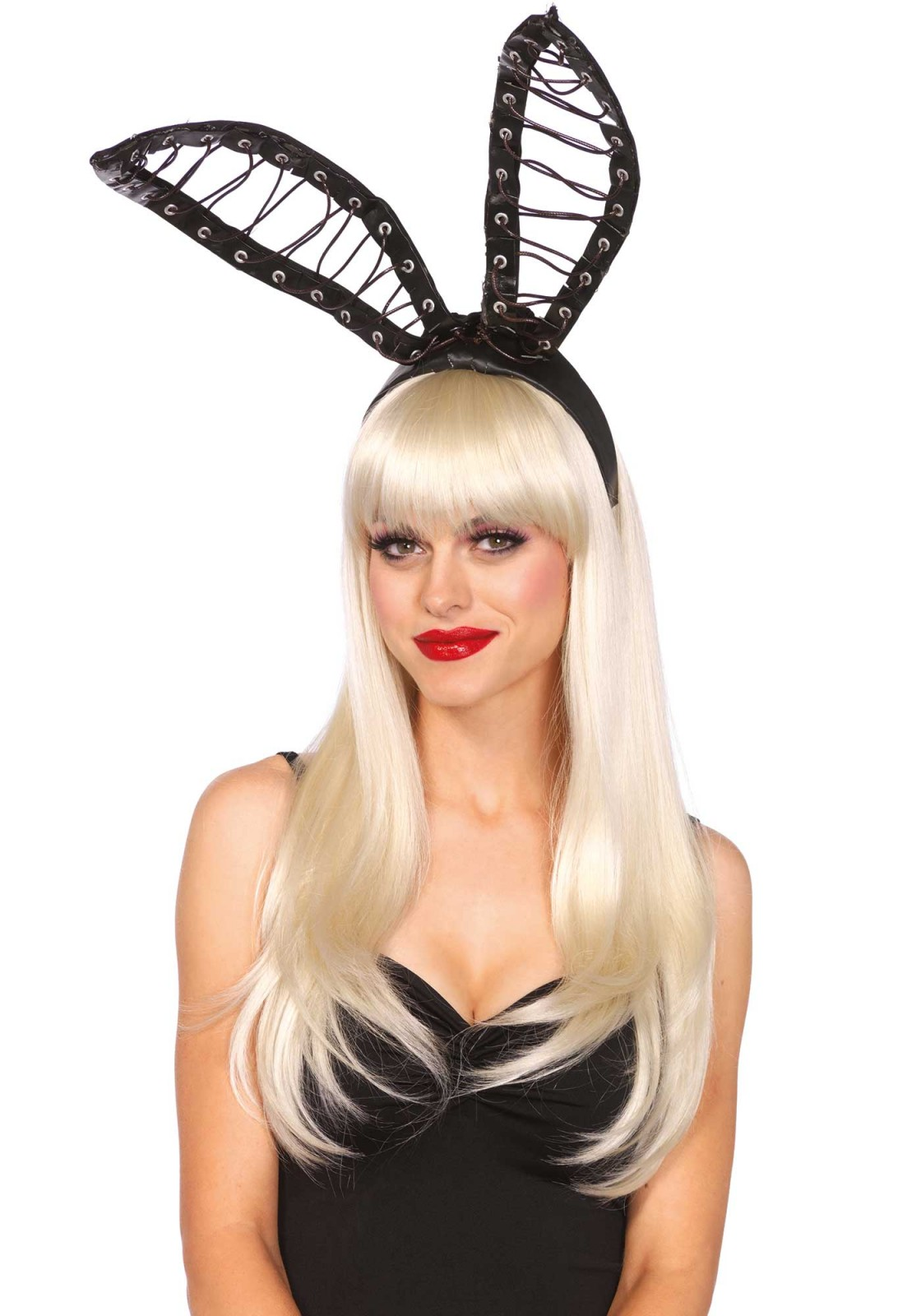 These oversized bunny ears are a perfect addition to any party outfit. The ears are attached to a headband. Also, the oversized satin ears are bendable.
