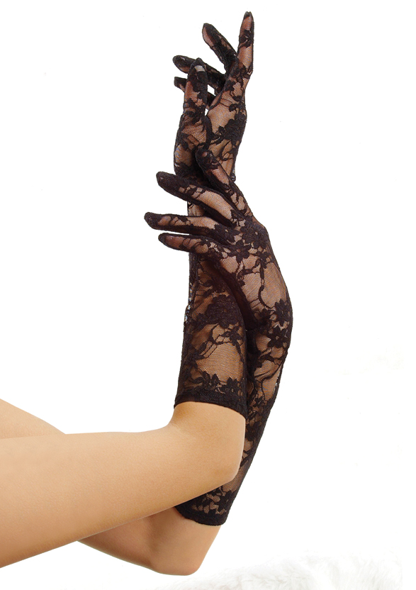 Elbow length stretch gloves