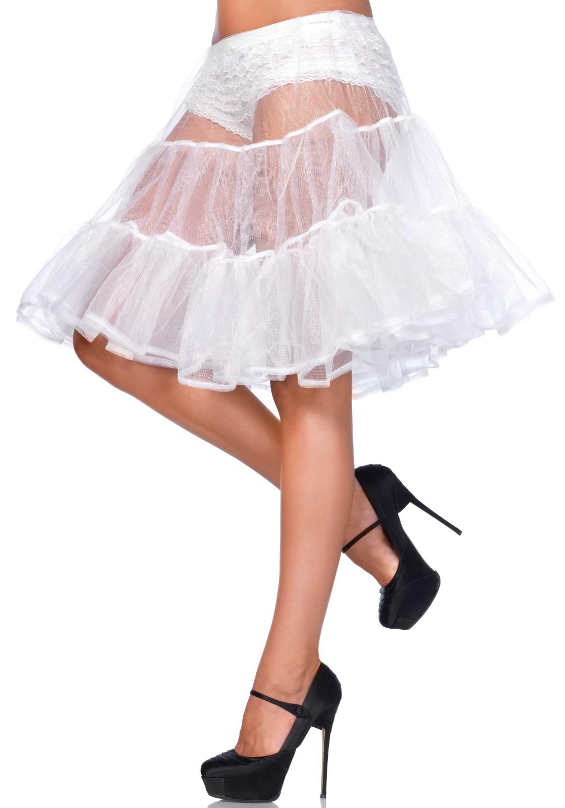 Knee Length Petticoat Skirt